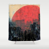 sunshine Shower Curtains featuring Last Sunshine by Fernando Vieira