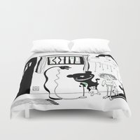 nightmare Duvet Covers featuring nightmare by leart