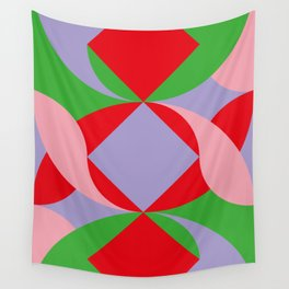 Two red squares and a Squared hole Wall Tapestry