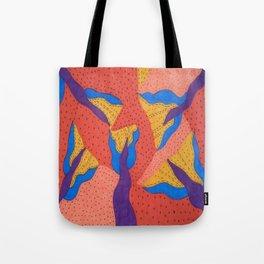 Orange Desert Flowering Abstract Tote Bag