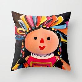 MEXICAN MARIA DOLL*** Throw Pillow