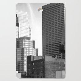Minneapolis Skyline Black and White Minnesota Cutting Board