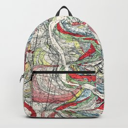 Beautiful Vintage Map of the Mississippi River Backpack