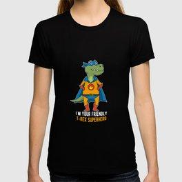 Dino superhero T-Rex Lizard Gift T-shirt