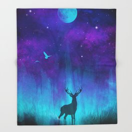 Lunar Marsh Throw Blanket