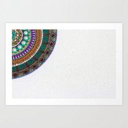 Piece of plate dot art Art Print