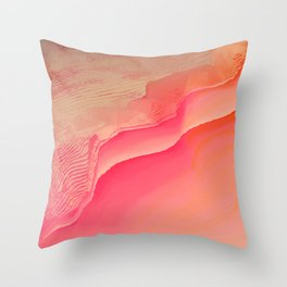 Pink Navel Throw Pillow