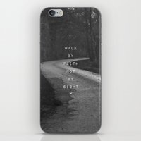 pocketfuel iPhone & iPod Skins featuring Faith not Sight by Pocket Fuel