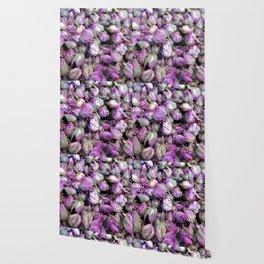 Purple Rosebuds Wallpaper