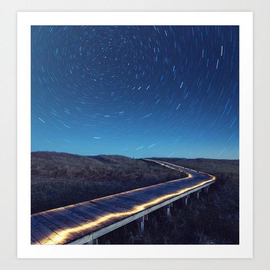 Boardwalk to the Stars Art Print