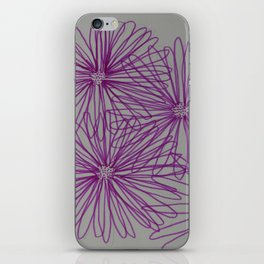 Abstract Pink Daisy iPhone Skin