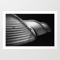Row Boats 1 Art Print