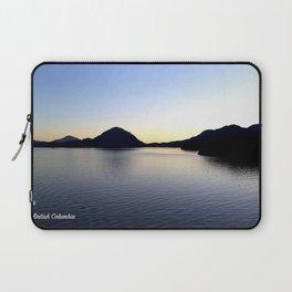 Salish Sea Sunset - Canada - With Text Laptop Sleeve