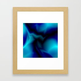 Mystical cosmic sparkling lightning of light blue zigzags and yellow spots. Framed Art Print