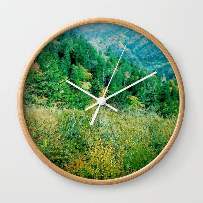 Smokey Mountains Wall Clock
