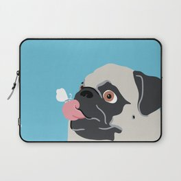 Pug Butterfly Flat Graphic Laptop Sleeve