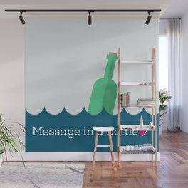Message in a bottle Wall Mural
