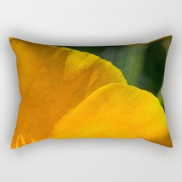 Orange Abstract III Rectangular Pillow