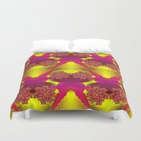 dragonball z Duvet Covers featuring Flowers Z by Vitta