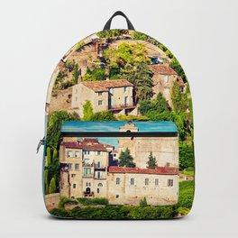 Gordes - old Medieval town Gordes in Provence, France Backpack