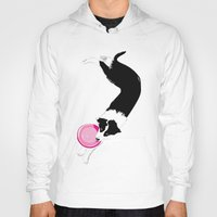 border collie Hoodies featuring Disc Dog - Border Collie by Niklab