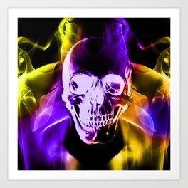 Smokey Skull Art Print