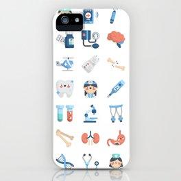 CUTE MEDICINE / SCIENCE / DOCTOR PATTERN iPhone Case