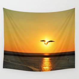 Icarus Vacationing in San Diego, California Wall Tapestry