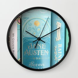Shelfie in Aqua Wall Clock