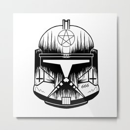 Clone Trooper 666 Metal Print