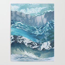 Sea abstract Poster