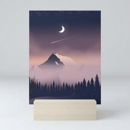 Misty Mountains. Mini Art Print