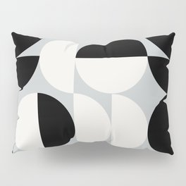 Abstraction_NEW_SHAPE_BLACK_WHITE_POP_ART_0905A Pillow Sham