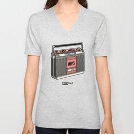 80's Dad Cassette Player Retro Style Unisex V-Neck