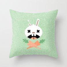Bunny Death Throw Pillow