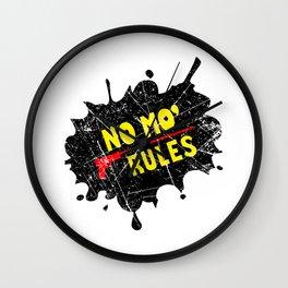 No Mo Rules Wall Clock