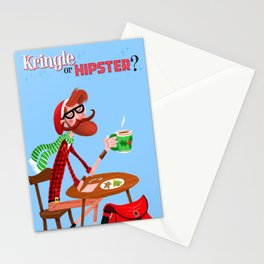 Kringle Or Hipster? Stationery Cards