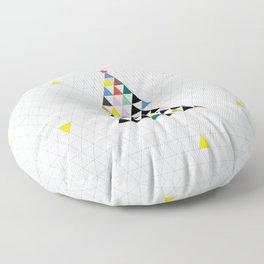 Geometric Christmas Tree Floor Pillow