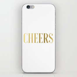 CHEERS BAR ART, Cheers Sign, Cheers Wall Art,Cheers Home Bar Decor,Alcohol Sign,Drink Sign,Typograp iPhone Skin