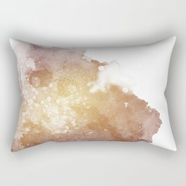 Gold Evening Cloud Rectangular Pillow