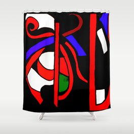 Whacked Shower Curtain