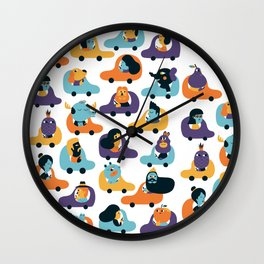 Little cars Wall Clock