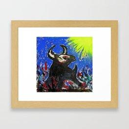 Taureau et soleil Framed Art Print