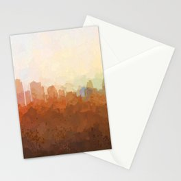 Kansas City, Missouri Skyline - In the Clouds Stationery Cards