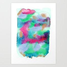 Fairytale land map aka abstract landscape 1 Art Print