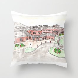 Mercy Academy, Louisville, KY, Girls School, Watercolor Throw Pillow