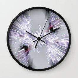 Snow Sparkle Burst Wall Clock