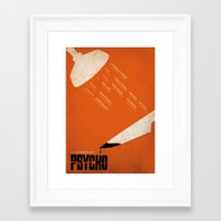 psycho Framed Art Prints featuring Psycho by Ollie Boyd