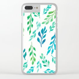 180726 Abstract Leaves Botanical 19 Botanical Illustrations Clear iPhone Case