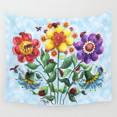 Ladybug Playground on a Summer Day Wall Tapestry